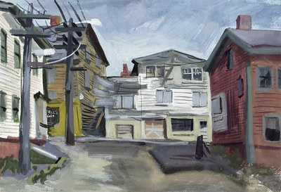 Untitled (town scene)