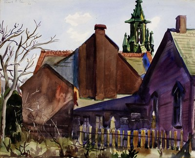 Scene with Houses and Church